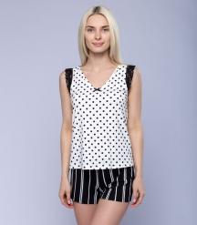 Пижама женская 5047/2, р.084, рост 170, молочный комб.  Serge
