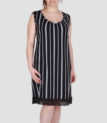 Сорочка ночная женская 8123/3, р.100, рост 170, черный с рис. 2022  Serge