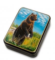 ШК-55/144-B Шкатулка «Медведь» исп.Лидяева
