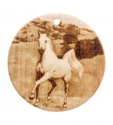 КД-04/033 Доска разделочная круглая  Лошадь