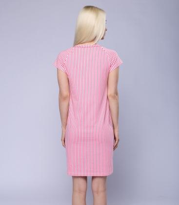 Платье для дома женское 6852/7, р.112, рост 170, молочный с рис. 2106  Serge
