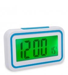 ЯЛ-07-08/1 Часы электронные говорящие  белый корпус с синим
