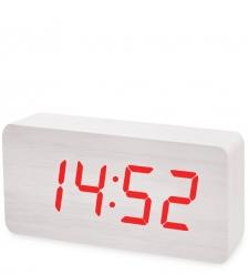 ЯЛ-07-03/11 Часы электронные бол.  белое дерево с красной подсветкой