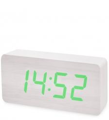 ЯЛ-07-03/14 Часы электронные бол.  белое дерево с зеленой подсветкой