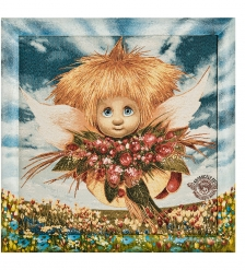 ANG-1031 Гобелен в расписной раме «Ангел обаяния» 45х45