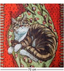 ANG-1046 Шелковый платок  Любимый разбойник   Н. Леоновой
