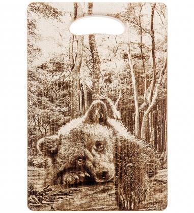 КД-01/063 Доска разделочная большая  Медвежонок