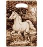 КД-01/233 Доска разделочная большая  Лошадь