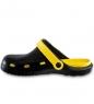 MSG-10/03-M Массажные тапочки черно-желтые