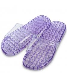 MSG-02/04-M Массажные тапочки фиолетовые