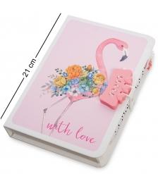 NB-64/3 Блокнот с ручкой «Фламинго» в коробке с замком
