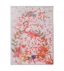 NB-49/ 4 Блокнот «Фламинго» с плавающими пайетками