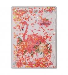 NB-49/ 5 Блокнот «Фламинго» с плавающими пайетками