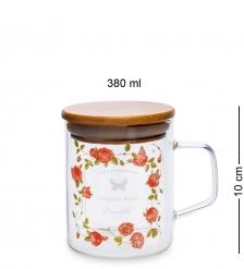 GS-47/4 Кружка с крышкой Розовый сад 380мл