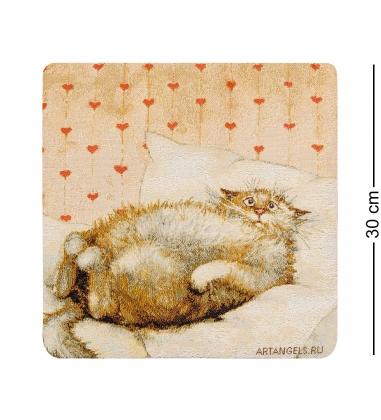 ANG-1102 Наволочка гобеленовая  Любимый бегемотик  30х30