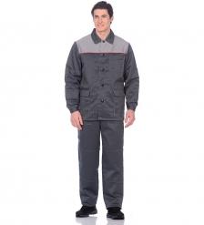 ЯЛ-02-67 Костюм куртка/брюки летний, р.44-46, рост 182-188, серый-красный