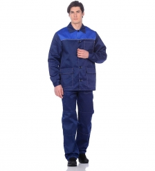 ЯЛ-02-68 Костюм куртка/брюки летний, р.44-46, рост 170-176, т-синий с васильковым