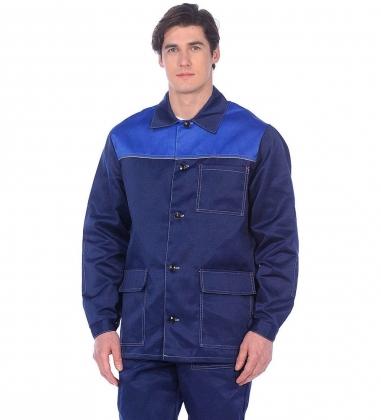 ЯЛ-02-68 Костюм куртка/брюки летний, р.44-46, рост 182-188, т-синий с васильковым