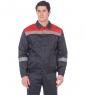 ЯЛ-02-96 Костюм куртка/полукомб. р.52-54, рост 170-176, серый/красный