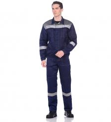 ЯЛ-02-97 Костюм куртка/полукомб. р.44-46, рост 170-176, синий/серый