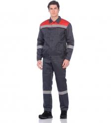 ЯЛ-02-96 Костюм куртка/полукомб. р.56-58, рост 170-176, серый/красный