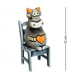 KK-647 Фигурка «Бык на стуле» шамот