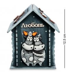KK-652 Копилка-домик «Влюбленные» шамот