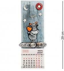 KK-655 Панно с календарем «Бык» шамот