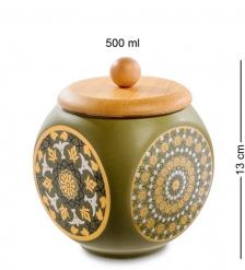 TJ-10/2 Керамическая банка мал. с крышкой из бамбука