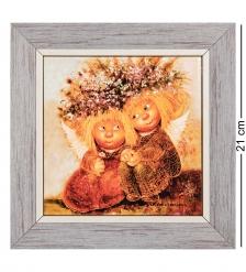 ANG-1165 Панно керамическое «Первая любовь» 15х15
