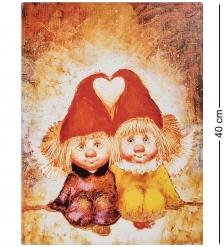 ANG-1201 Жикле на холсте  Ангелы вечной любви  30х40