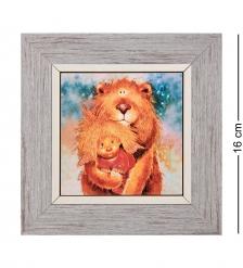ANG-1235 Панно керамическое «Лев» 10х10