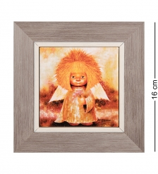 ANG-1243 Панно керамическое  Ангел процветания  10х10