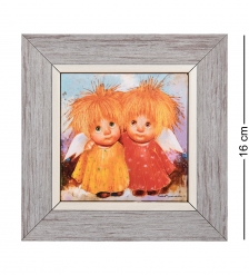 ANG-1246 Панно керамическое «Ангелы настоящей дружбы» 10х10