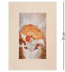 ANG-1250 Жикле в паспарту «Ангелы теплых чувств» 21х29,7