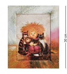 ANG-1346 Жикле в раме «Кто здесь котиков не любит?» 18х24