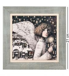 ANG-1363 Панно керамическое «Исполнитель желаний» 15х15