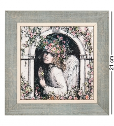 ANG-1365 Панно керамическое «Ангел мой будь со мной» 15х15