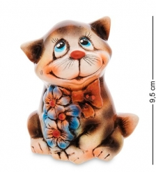 АБ- 95 Фигурка керамическая  Кот с цветами