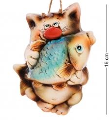 АБ-102 Панно керамическое «Кот с рыбой»