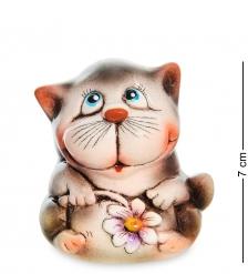 АБ-142 Фигурка керамическая «Кот с цветком»