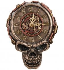 WS-1066 Часы настенные в стиле Стимпанк «Череп»