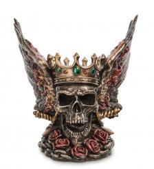 WS-1067 Статуэтка Крылатый череп в короне