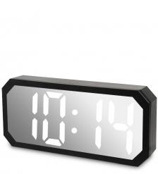 ЯЛ-07-22/2 Часы электронные сред. зеркальные  белые с черным циферблатом