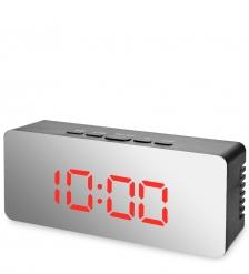 ЯЛ-07-23/4 Часы электронные мал. зеркальные  черные с красным циферблатом
