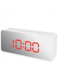 ЯЛ-07-23/5 Часы электронные мал. зеркальные  белые с красным циферблатом