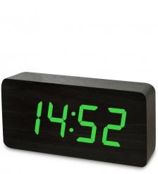 ЯЛ-07-03/15 Часы электронные бол.  чёрное дерево с зелёной подсветкой