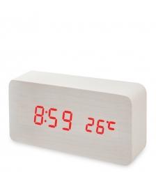 ЯЛ-07-09/15 Часы электронные  белое дерево с красной подсветкой