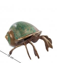 43-122-02 Фигурка «Краб в ракушке»  бронза, о.Бали