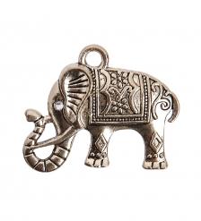 AM-2296 Фигурка кошельковая «Счастливый слон»  латунь